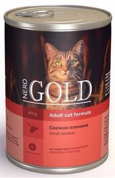 Nero Gold Super Premium - Консервы для кошек (свежая оленина) Cat Adult Venison - фото 17608
