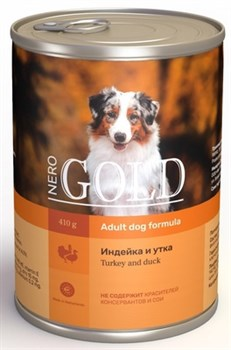 Nero Gold Super Premium - Консервы для собак (индейка и утка) Dog Adult Turkey & Duck - фото 17616