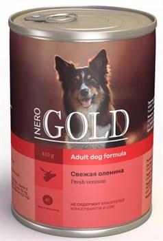 Nero Gold Super Premium - Консервы для собак (свежая оленина) Dog Adult Venison - фото 17624