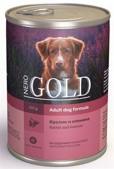 Nero Gold Super Premium - Консервы для собак (кролик и оленина) Dog Adult Rabbit & Venison - фото 17626