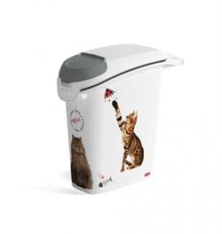 "Curver PetLife - Контейнер для корма ""Кошачьи Цап-царапки"" на 10кг/23л, 23*50*50см - фото 17951"