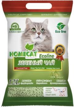 """Homecat - Комкующийся наполнитель для кошек """"Эколайн"""" с ароматом зеленого чая - фото 18064"""