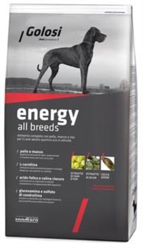 Golosi - Сухой корм для активных взрослых собак всех пород (с курицей, говядиной и рисом) ENERGY ALL BREEDS - фото 18085