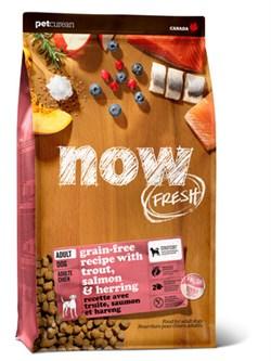 NOW Natural Holistic - Сухой корм беззерновой для взрослых собак для чувствительного пищеварения (с форелью и лососем) Grain Free Fish Adult Recipe - фото 18266