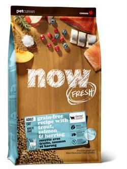 NOW Natural Holistic - Сухой корм беззерновой для взрослых кошек для чувствительного пищеварения (с форелью и лососем) Grain Free Fish Adult Cat Recipe - фото 18278