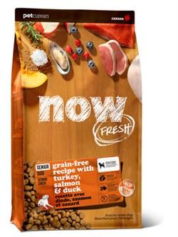"""NOW Natural Holistic - Сухой корм беззерновой """"Контроль веса"""" для собак (с индейкой, уткой и овощами) Fresh Senior Recipe Grain Free - фото 18295"""