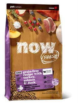 """NOW Natural Holistic - Сухой корм беззерновой для кошек """"Контроль веса"""" (с индейкой, уткой и овощами) Fresh Grain Free Senior Cat Recipe - фото 18299"""