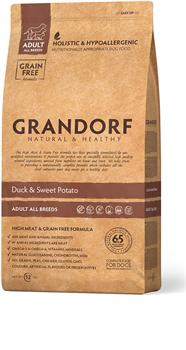 Grandorf - Сухой корм беззерновой для всех пород (утка с картофелем) Grain Free Adult All Breed Duck & Potato Recipe - фото 18546