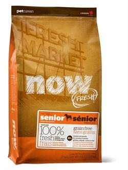 """NOW Natural Holistic - Сухой корм беззерновой """"Контроль веса"""" для собак (с индейкой, уткой и овощами) Fresh Senior Recipe Grain Free - фото 5004"""