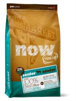 """NOW Natural Holistic - Сухой корм беззерновой """"Контроль веса"""" для собак крупных пород (с индейкой, уткой и овощами) Fresh Senior Large Breed Recipe Grain Free - фото 5005"""