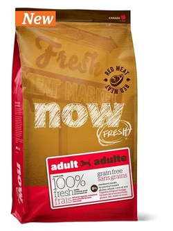 NOW Natural Holistic - Сухой корм беззерновой для взрослых собак (со свежим мясом ягненка и оленины) Grain Free Red Meat Adult Recipe - фото 5009