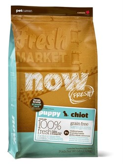 NOW Natural Holistic - Сухой корм беззерновой для щенков крупных пород (с индейкой, уткой и овощами) Fresh Puppy Large Breed Recipe Grain Free - фото 5016