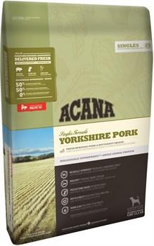 Acana Singles - Сухой корм для взрослых собак всех пород (свинина с мускатной тыквой) Yorkshire Pork - фото 5019