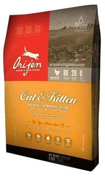 Orijen - Сухой беззерновой корм для кошек Cat&Kitten - фото 5042