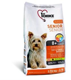 1St Choice - Сухой корм для пожилых собак миниатюрных и мелких пород (курица) - фото 5062