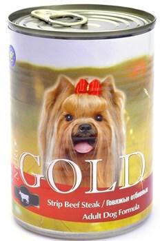Nero Gold Super Premium - Консервы для собак (говяжьи отбивные) Dog Adult Strip Beef Steak - фото 5074