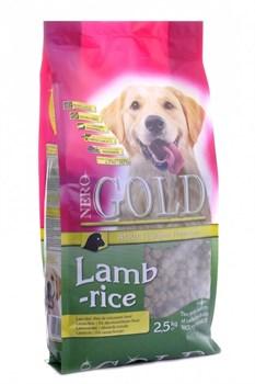 Nero Gold Super Premium - Сухой корм для взрослых собак (с ягненком и рисом) Adult Lamb & Rice - фото 5086