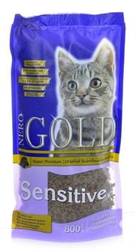 Nero Gold Super Premium - Сухой корм для кошек с чувствительным пищеварением (с ягненком) Cat Adult Sensitive Lamb - фото 5092