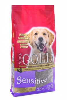 Nero Gold Super Premium - Сухой корм для чувствительных собак (индейка и рис) Adult Sensitive Turkey & Rice - фото 5093