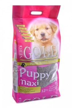Nero Gold Super Premium - Сухой корм для щенков крупных пород (курица с рисом) Puppy Maxi Chicken & Rice - фото 5095