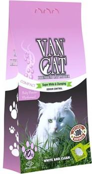 Van Cat - Наполнитель комкующийся без пыли для кошек (с ароматом детской присыпки) Baby Powder - фото 5126