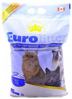 "Eurolitter - Наполнитель комкующийся без пыли ""Контроль запаха"" для кошек (без запаха) Dust Free - фото 5137"