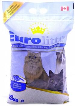 """Eurolitter - Наполнитель комкующийся без пыли """"Контроль запаха"""" для кошек (с ароматом лаванды) Dust Free - фото 5138"""