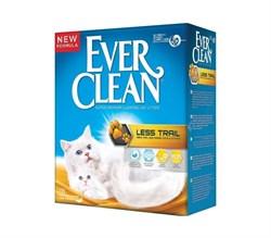 Ever Clean - Наполнитель комкующийся для длинношерстных кошек (желтая полоса) Less Trail - фото 5139