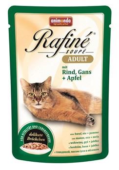 Animonda - Паучи для взрослых кошек (с говядиной, мясом гуся и яблоком) Rafine Soupe Adult - фото 5200