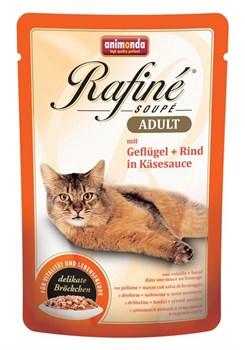 Animonda - Паучи для взрослых кошек (с домашней птицей в сырном соусе) Rafine Soupe Adult - фото 5202