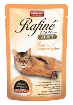 Animonda - Паучи для взрослых кошек (с индейкой в морковном желе) Rafine Soupe Adult - фото 5204