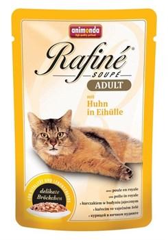 Animonda - Паучи для взрослых кошек (с курицей в яичном пудинге) Rafine Soupe Adult - фото 5207