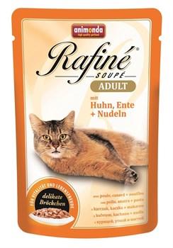 Animonda - Паучи для взрослых кошек (с курицей, уткой и пастой) Rafine Soupe Adult - фото 5208