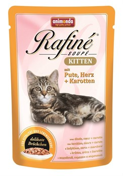 Animonda - Паучи для котят (с индейкой, сердцем и морковью) Rafine Soupe Kitten - фото 5211