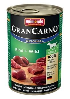 Animonda - Консервы для взрослых собак (с говядиной и дичью) GranCarno Original Adult - фото 5258