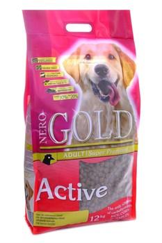 Nero Gold Super Premium - Сухой корм для активных собак (курица с рисом) Adult Active - фото 5330