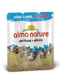 Almo Nature - Колбаски для кошек, 3шт. (курица) Azul Label Snack Cat Chicken - фото 5331