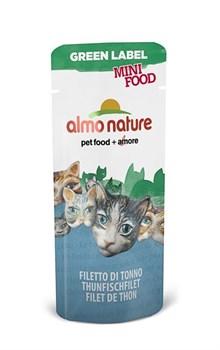 Almo Nature - Лакомство для кошек (филе тунца, 99% мяса) Green Label Mini Food Tuna Fillet - фото 5349