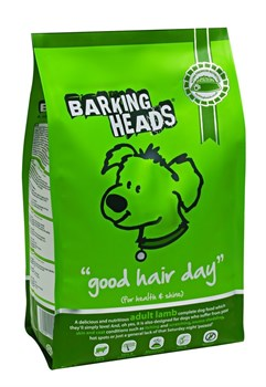 """Barking Heads - Сухой корм для собак, имеющих проблемы с шерстью, """"Роскошная шевелюра"""" (с ягненком и рисом) Bad Hair Day (Lamb Adult) - фото 5396"""
