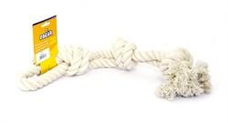 "Benelux - Игрушка для собак ""Белый канат"" 45 см Coton dog toy white 270 gr - фото 5408"