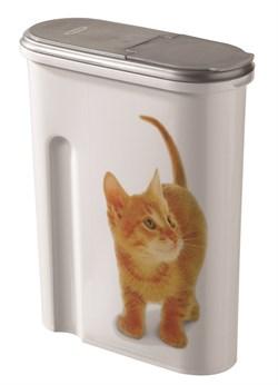 "Curver PetLife - Контейнер для корма ""Кошка"" на 1,5кг/4,5л, 25*10*30см - фото 5650"
