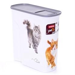 """Curver PetLife - Контейнер для корма """"Кошкина радость"""", большой, на 6 л, 28*12*28 см - фото 5651"""
