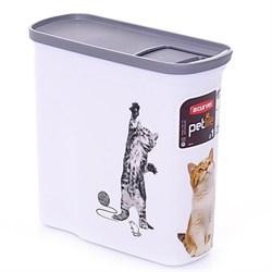 """Curver PetLife - Контейнер для корма """"Кошкина радость"""", малый, на 2 л, 20*9*19 см - фото 5652"""