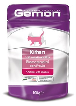 Gemon Cat - Паучи для котят (кусочки курицы) Pouch - фото 5680
