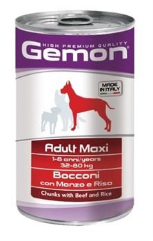 Gemon Dog - Консервы для собак крупных пород (кусочки говядины с рисом) Adult Maxi - фото 5703