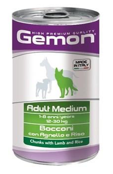 Gemon Dog - Консервы для собак средних пород (кусочки ягненка с рисом) Adult Medium - фото 5706