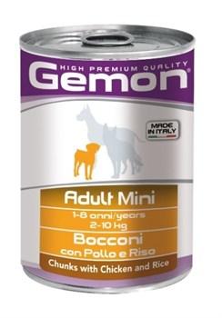 Gemon Dog - Консервы для собак мелких пород (кусочки курицы с рисом) Adult Mini - фото 5707