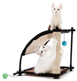 """Kitty City - Игровой комплекс с когтеточкой для кошек Белая гора """"Climbing Hill"""", 44*45*45см - фото 5718"""