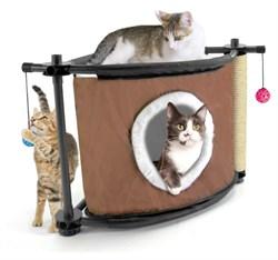 """Kitty City - Игровой комплекс с когтеточкой для кошек Сонное царство """"Sleepy Corner"""", 44*45*45см - фото 5720"""