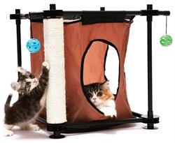 """Kitty City - Игровой комплекс с когтеточкой для кошек Тайное укрытие """"Hideaway"""", 44*45*45см - фото 5721"""
